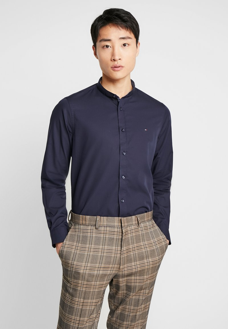 Tommy Hilfiger Tailored - POPLIN BAND COLLAR SLIM  FIT - Shirt - blue
