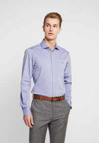 Tommy Hilfiger Tailored - DOBBY DESIGN CLASSIC SLIM FIT - Camicia elegante - blue - 0