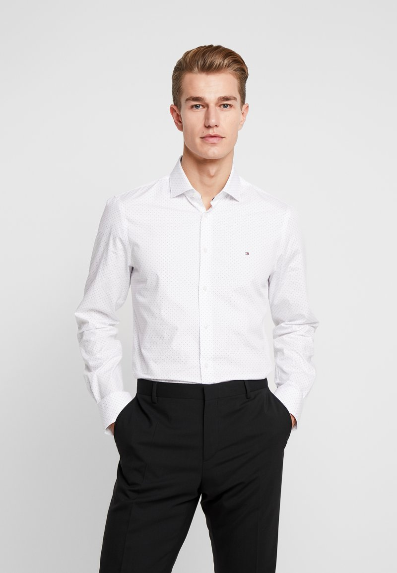 Tommy Hilfiger Tailored - DOT CLASSIC SLIM SHIRT - Camicia elegante - white
