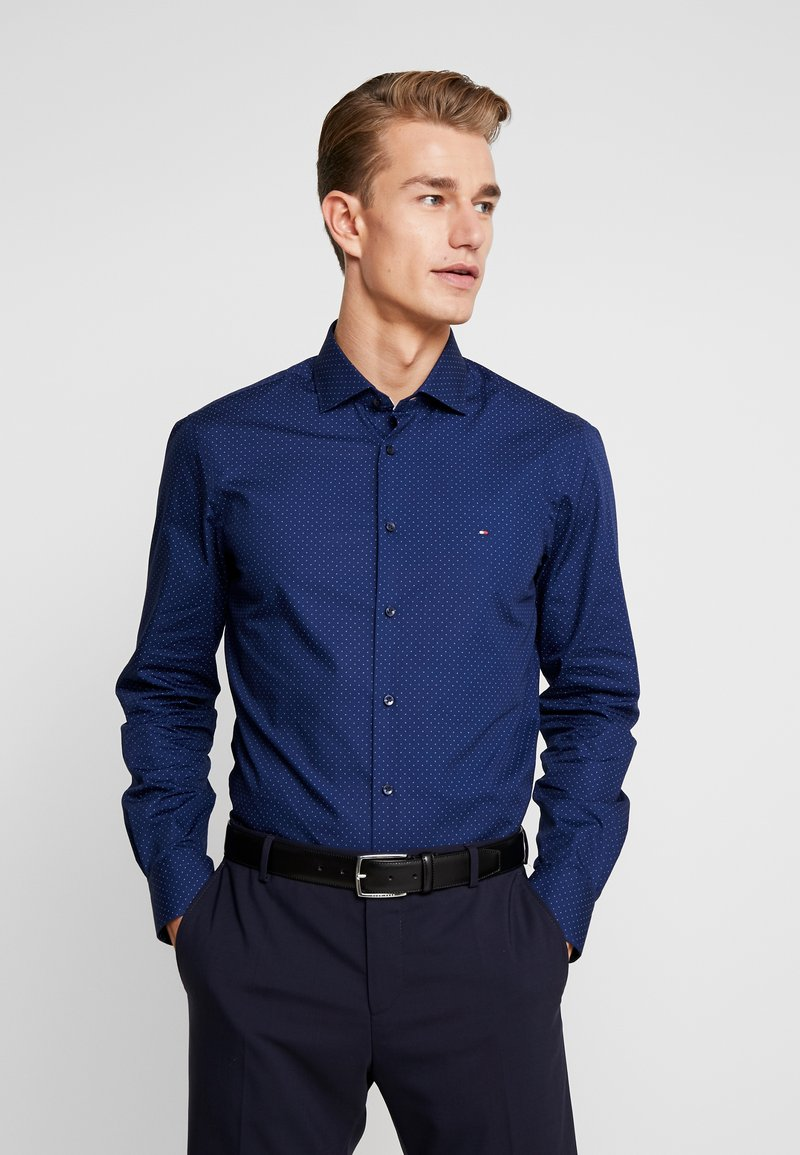 Tommy Hilfiger Tailored - DOT CLASSIC SLIM SHIRT - Kauluspaita - blue
