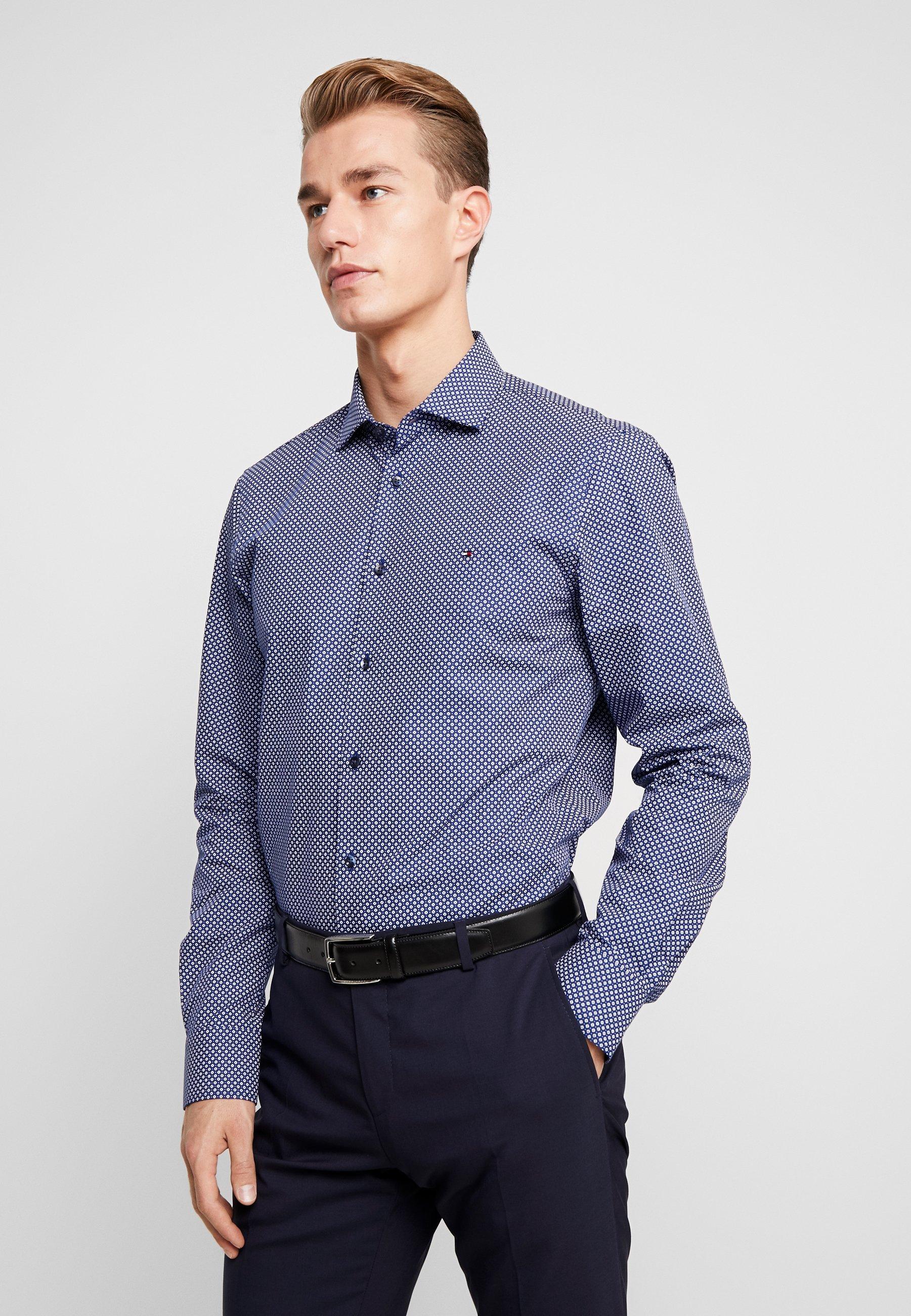Tommy Hilfiger Tailored MICRO PRINT CLASSIC SLIM FIT - Koszula - blue