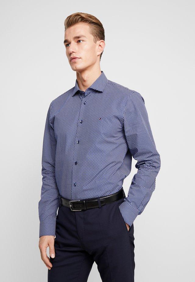 MICRO PRINT CLASSIC SLIM FIT - Shirt - blue