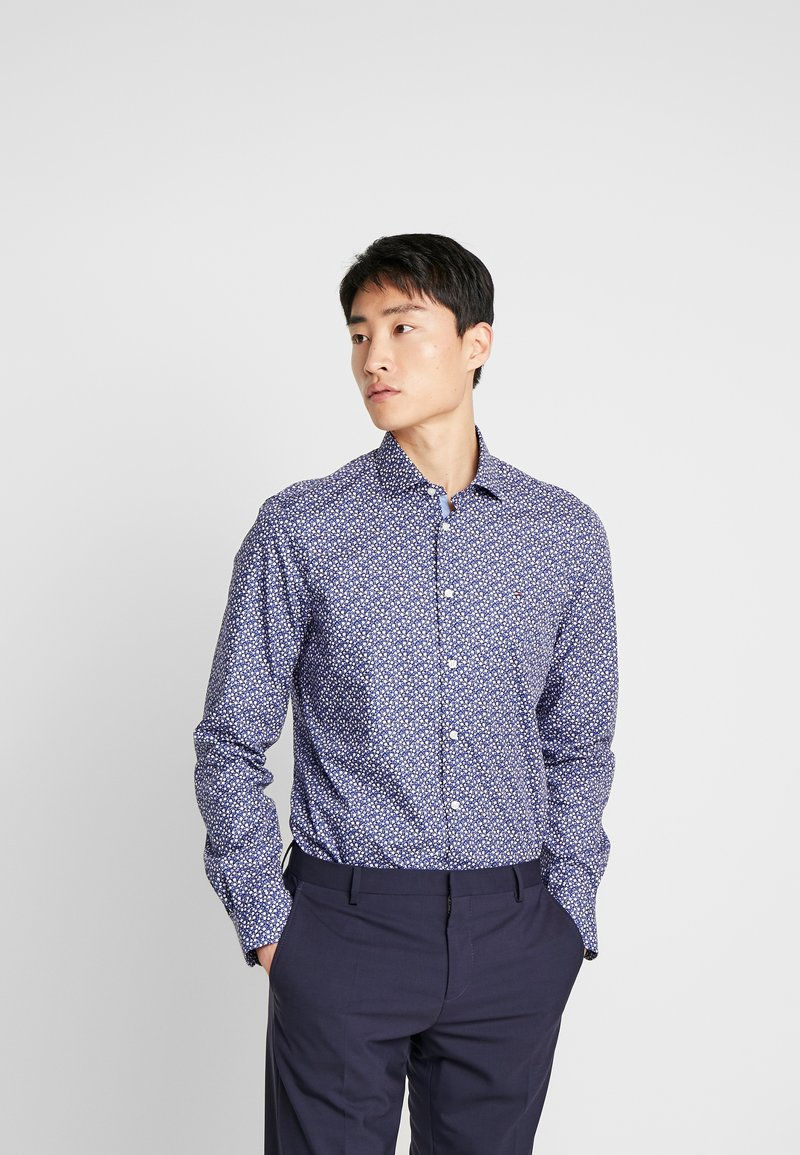 Tommy Hilfiger Tailored - FLORAL PRINT CLASSIC SLIM FIT - Overhemd - blue