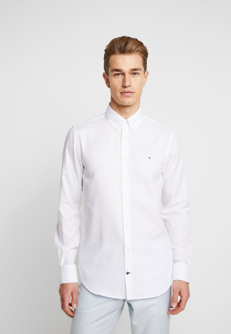 Tommy Hilfiger Tailored - DOBBY SLIM FIT  - Camicia elegante - white