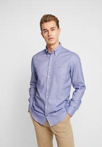 Tommy Hilfiger Tailored - DOBBY SLIM FIT  - Formální košile - blue - 0