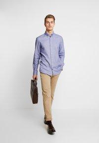 Tommy Hilfiger Tailored - DOBBY SLIM FIT  - Formální košile - blue - 1