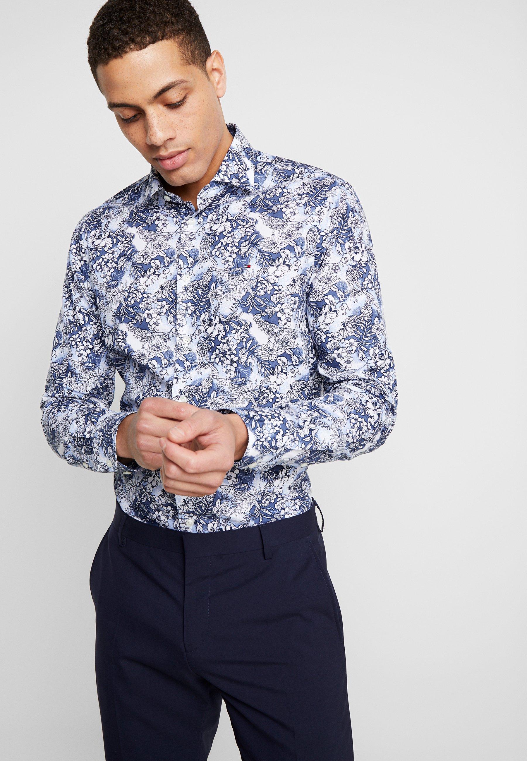 Tommy Hilfiger Tailored MACRO FLORAL CLASSIC SLIM FIT - Koszula - blue