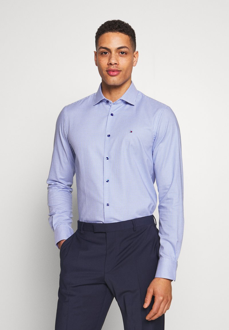 Tommy Hilfiger Tailored - HOUNDSTOOTH CLASSIC SLIM  - Formal shirt - blue