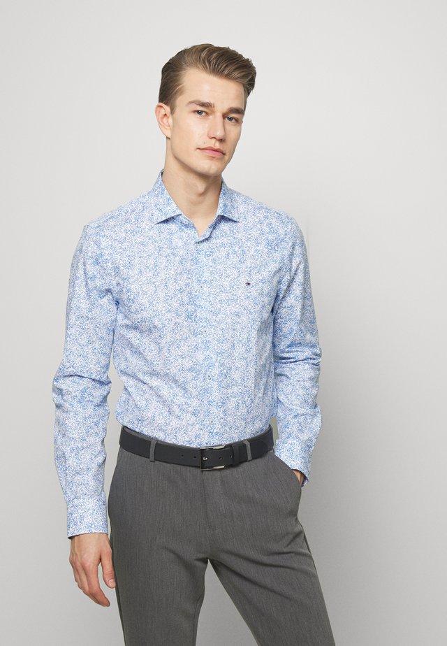FLORAL PRINT CLASSIC SLIM - Hemd - blue