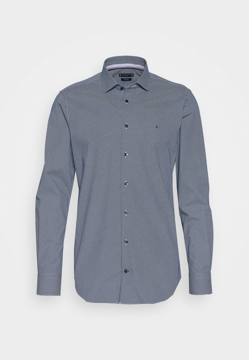 Tommy Hilfiger Tailored - MICRO PRINT CLASSIC SLIM - Camicia elegante - blue