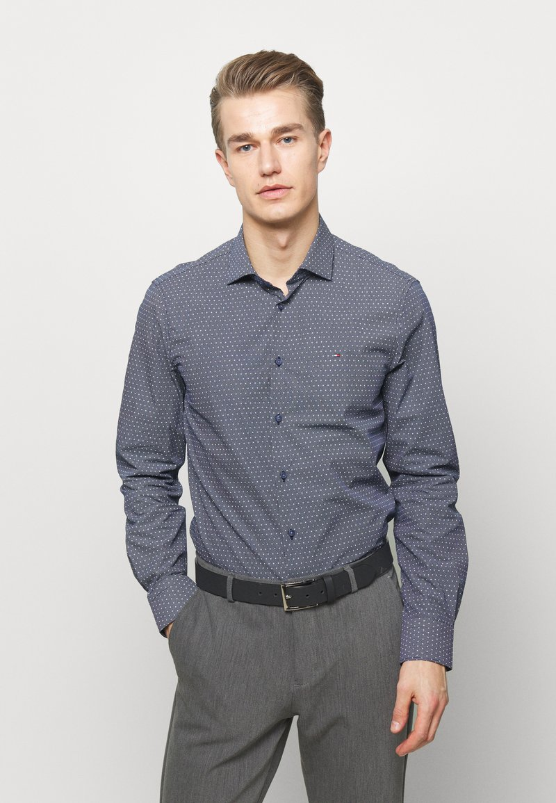 Tommy Hilfiger Tailored - DOT PRINT CLASSIC SLIM - Camicia elegante - blue