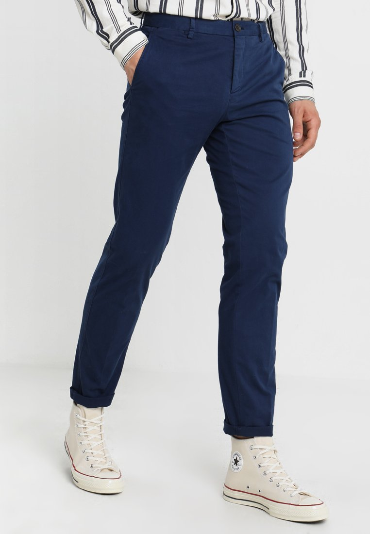 Tommy Hilfiger Tailored - STRETCH SLIM FIT PANTS - Chinos - blue