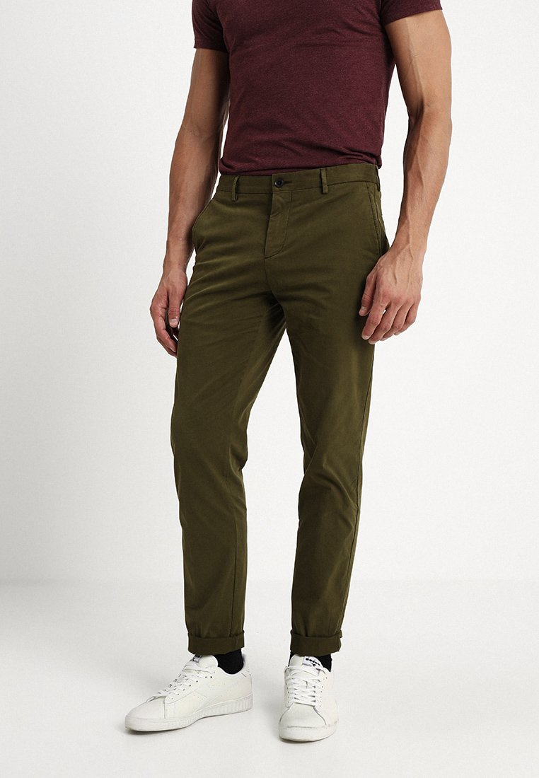 Tommy Hilfiger Tailored - STRETCH SLIM FIT PANTS - Chino - green