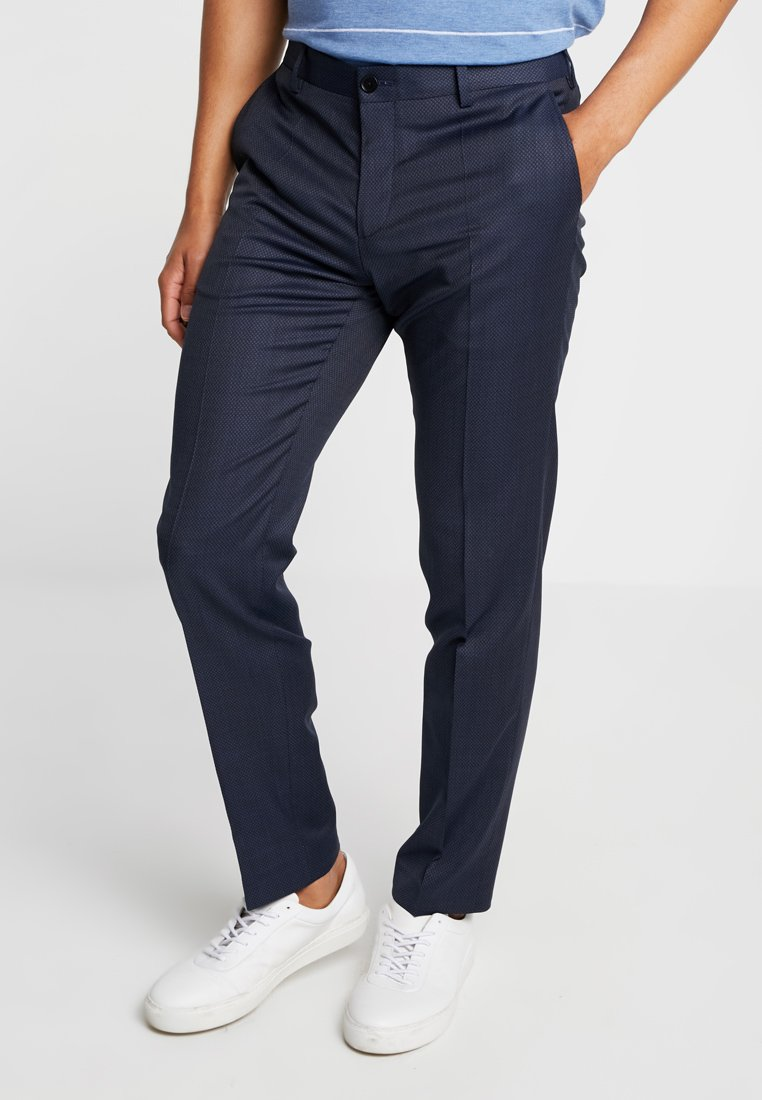 Tommy Hilfiger Tailored - FLEX STRUCTURE PANTS - Tygbyxor - blue