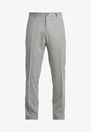 BLEND SOLID SLIM FIT PANTS - Pantalones - grey