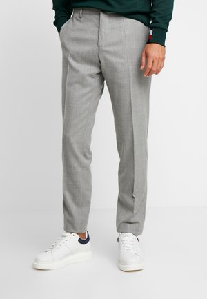 BLEND SOLID SLIM FIT PANTS - Trousers - grey
