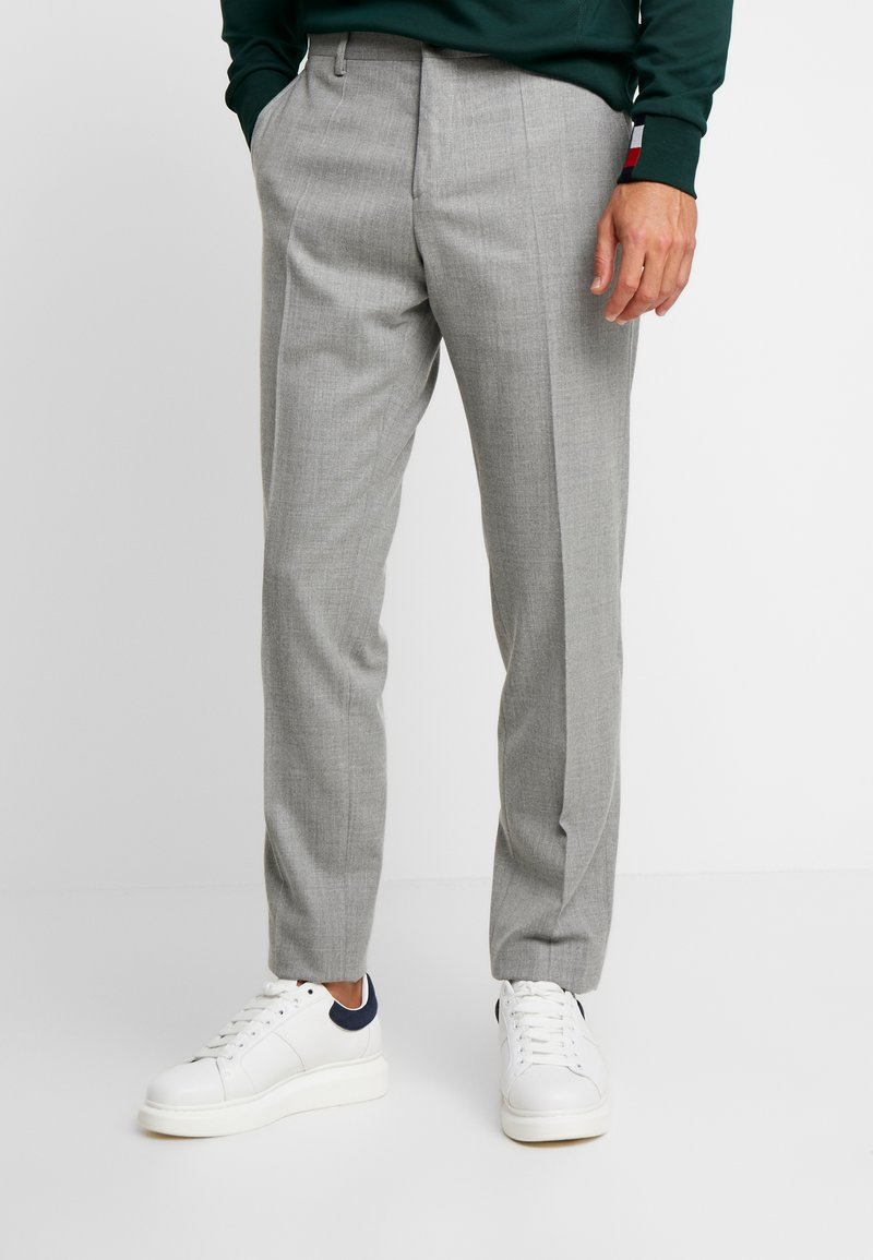Tommy Hilfiger Tailored - BLEND SOLID SLIM FIT PANTS - Stoffhose - grey