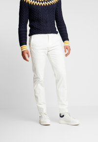 Tommy Hilfiger Tailored - SLIM FIT FLEX PANT - Tygbyxor - white - 0