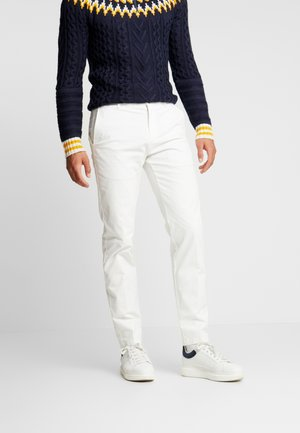 SLIM FIT FLEX PANT - Tygbyxor - white