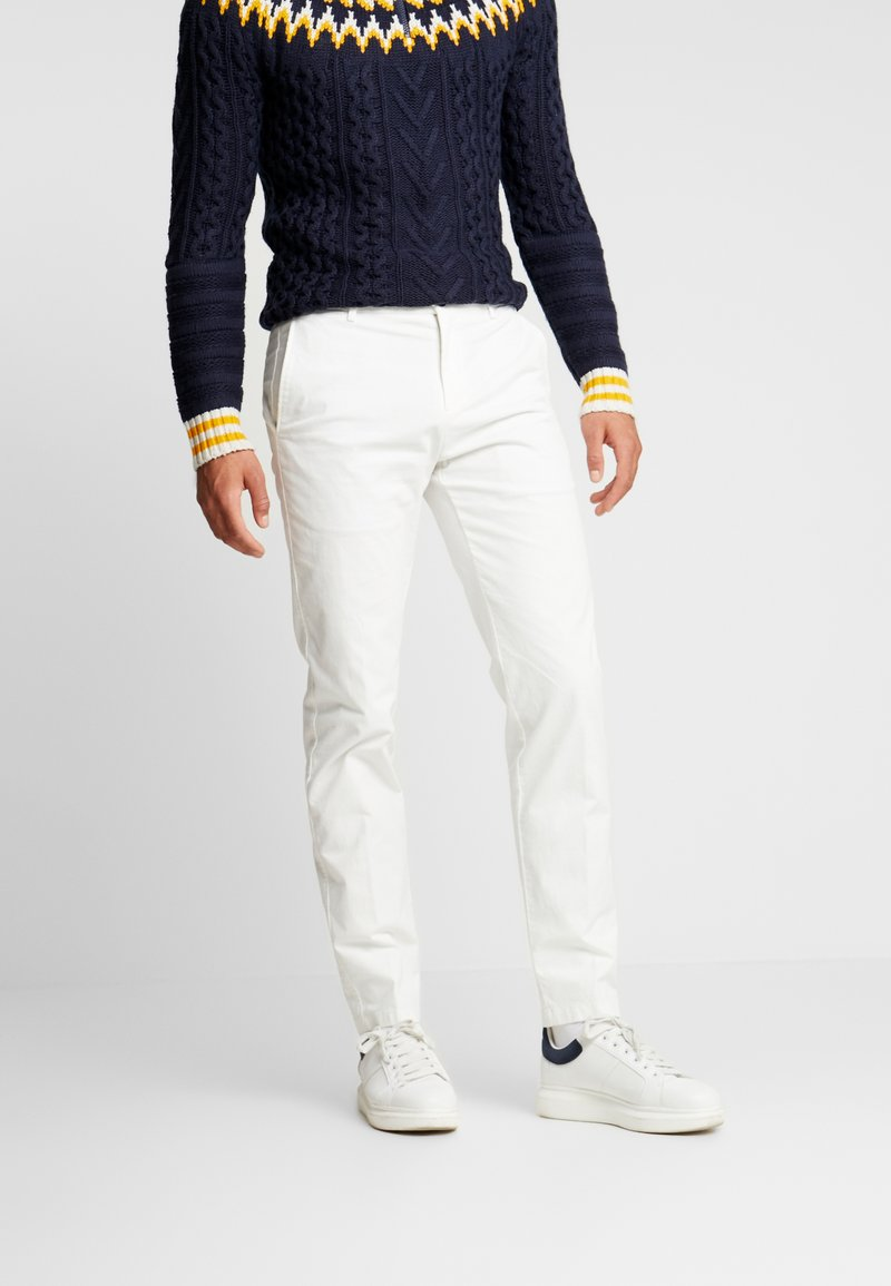 Tommy Hilfiger Tailored - SLIM FIT FLEX PANT - Tygbyxor - white