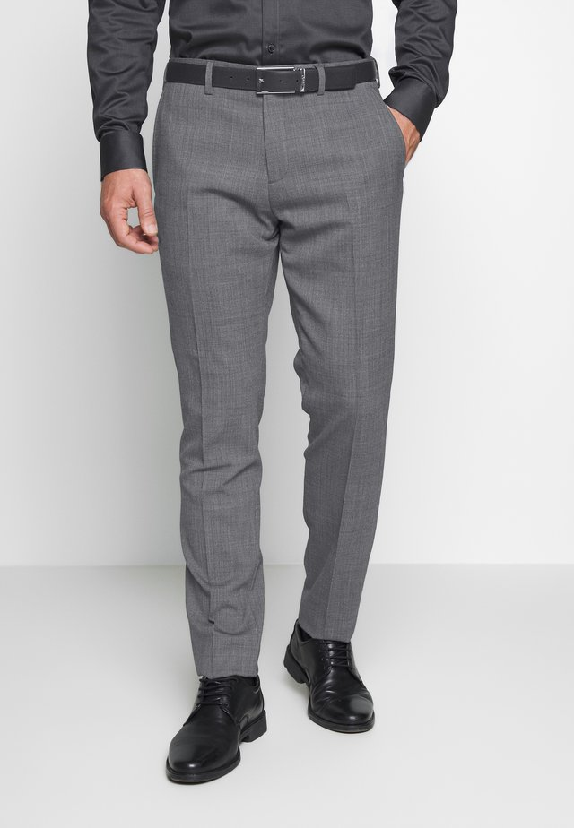 SLIM FIT FLEX PANT  - Jakkesæt bukser - grey