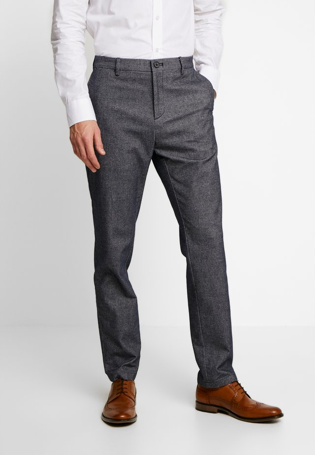 SLIM FIT DESIGN FLEX PANT - Pantaloni - blue