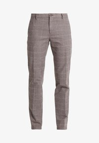 Tommy Hilfiger Tailored - SLIM FIT WINDOWPANE FLEX PANT - Kalhoty - brown - 4
