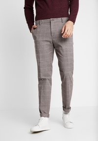 Tommy Hilfiger Tailored - SLIM FIT WINDOWPANE FLEX PANT - Kalhoty - brown - 0