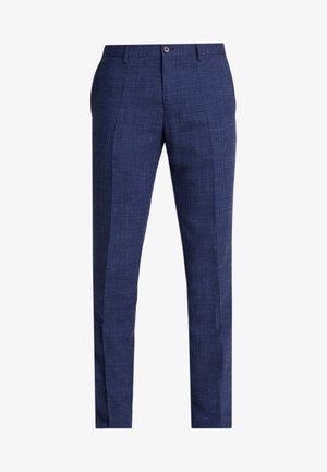 SLIM FIT MICRO DESIGN FLEX PANT - Trousers - blue