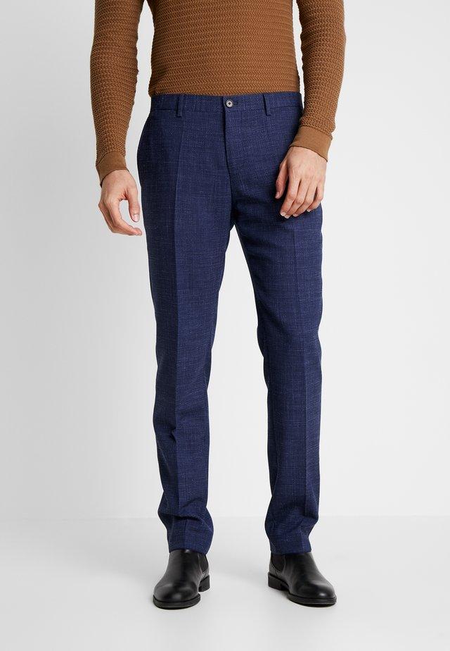 SLIM FIT MICRO DESIGN FLEX PANT - Bukse - blue