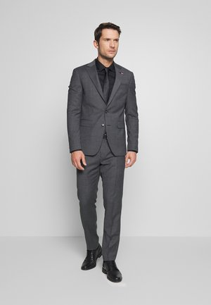 SLIM FIT FAKE SOLID SUIT - Oblek - grey
