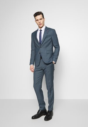 SLIM FIT FAKE SOLID SUIT - Traje - blue