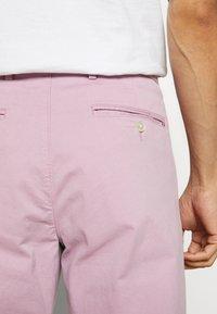 Tommy Hilfiger Tailored - STRETCH SLIM FIT PANTS - Kalhoty - purple - 5