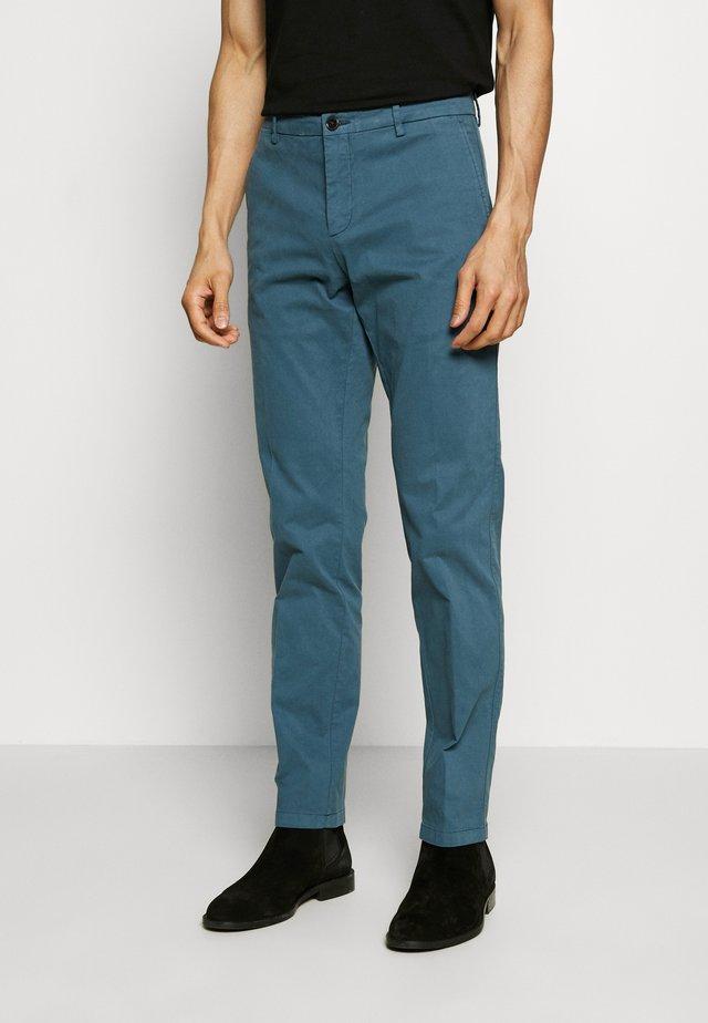 STRETCH SLIM FIT PANTS - Trousers - blue