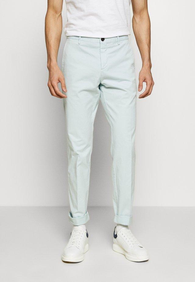 STRETCH SLIM FIT PANTS - Stoffhose - blue