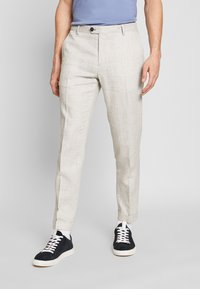 Tommy Hilfiger Tailored - SLIM FIT BLEND PANT - Trousers - grey - 0