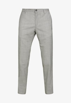 SLIM FIT SOLID BLEND PANT - Trousers - grey