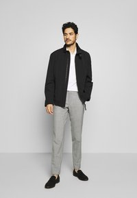 Tommy Hilfiger Tailored - SLIM FIT SOLID BLEND PANT - Kangashousut - grey - 1