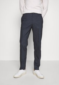 Tommy Hilfiger Tailored - HERRINGBONE SLIM FIT PANTS - Trousers - black - 0