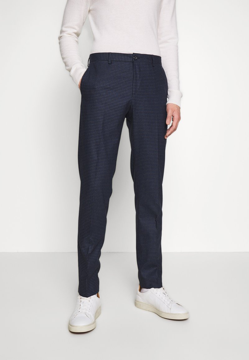 Tommy Hilfiger Tailored - GINGHAM CHECK SLIM FIT PANT - Pantaloni - black