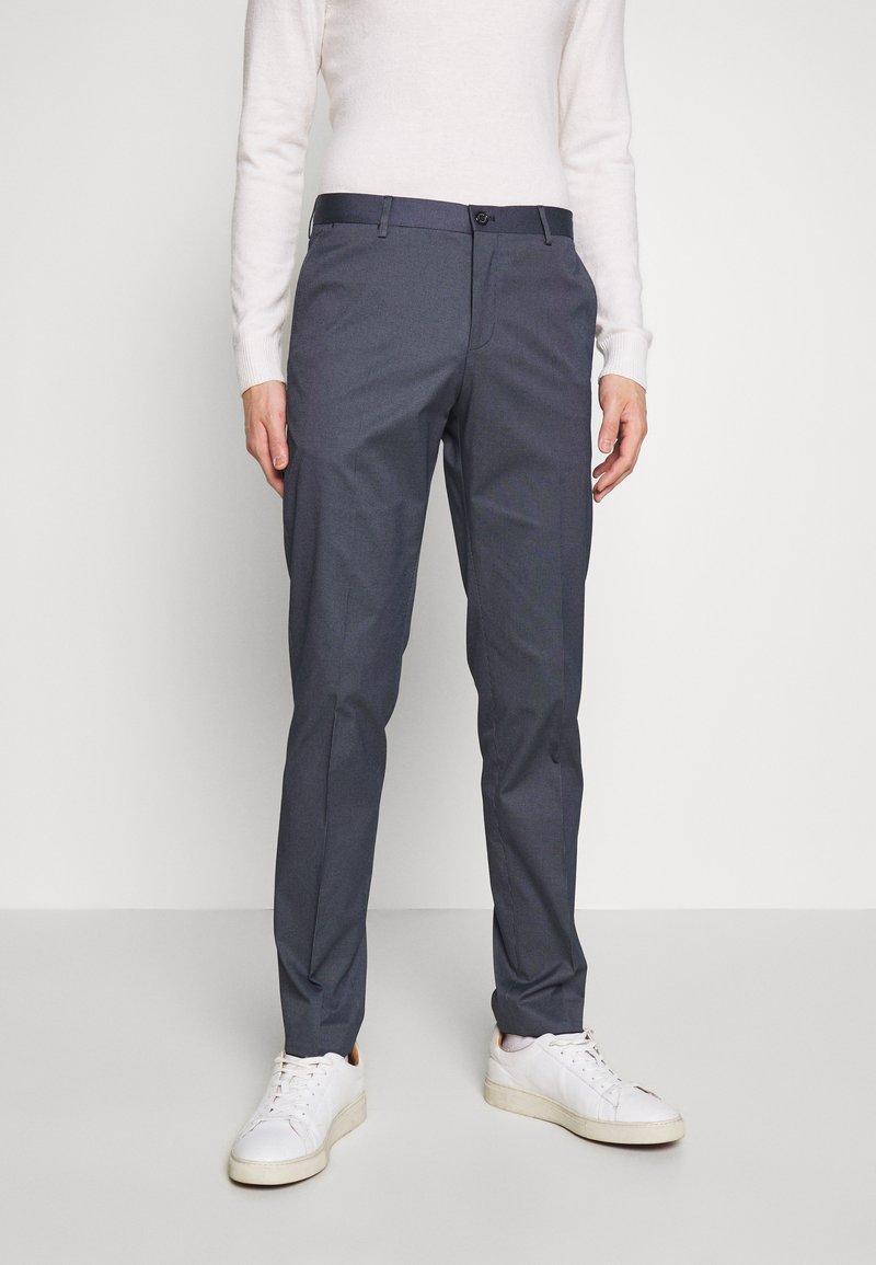 Tommy Hilfiger Tailored - FLEX MICRO STRIPE SLIM FIT PANT - Pantaloni - blue