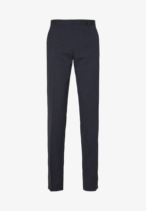 SMALL CHECK SLIM FIT PANT - Bukser - grey