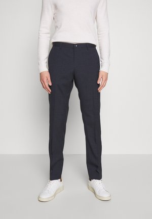 SMALL CHECK SLIM FIT PANT - Pantaloni - grey