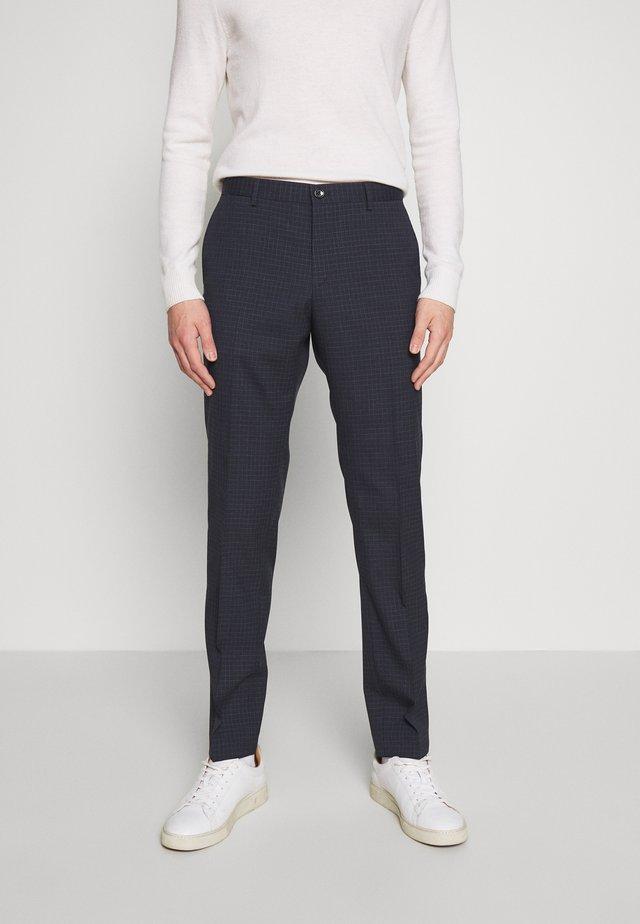 SMALL CHECK SLIM FIT PANT - Bukse - grey