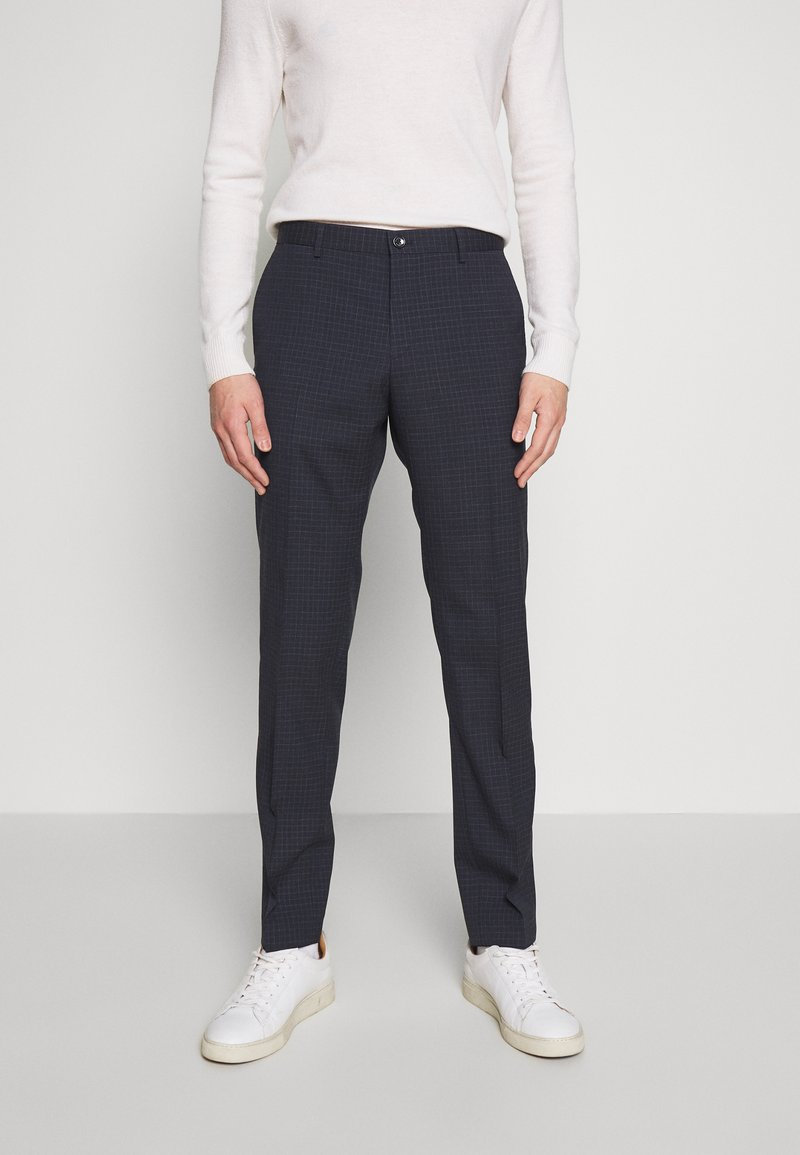 Tommy Hilfiger Tailored - SMALL CHECK SLIM FIT PANT - Pantaloni - grey