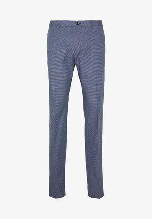 FLEX MICRO PRINT SLIM FIT PANT - Pantaloni - blue