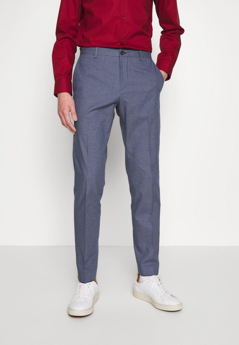 Tommy Hilfiger Tailored - FLEX MICRO PRINT SLIM FIT PANT - Pantaloni - blue