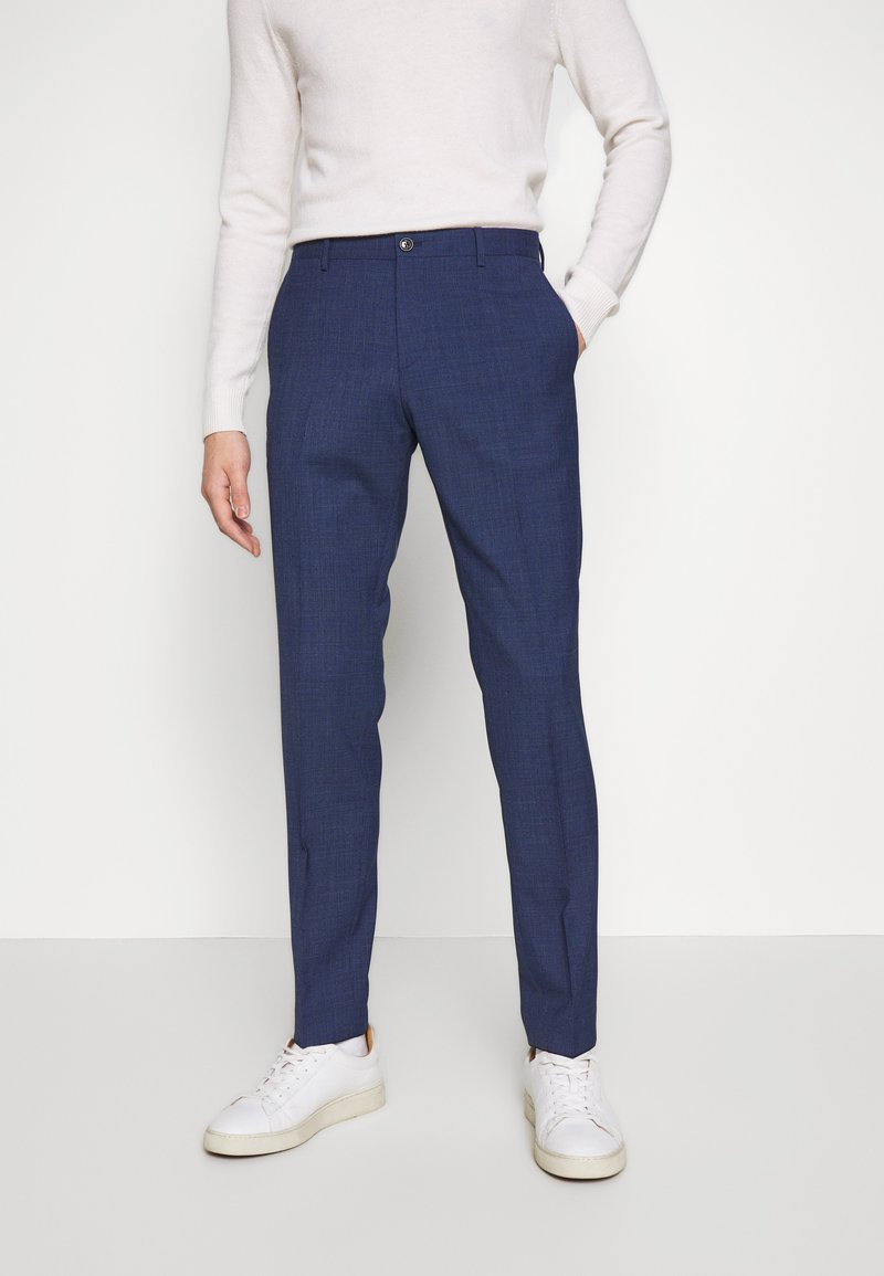 Tommy Hilfiger Tailored - MINI HOUNDSTOOTH SLIM FIT PANT - Pantaloni - blue