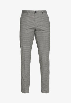 MINI CHECK SLIM FIT PANT - Tygbyxor - grey