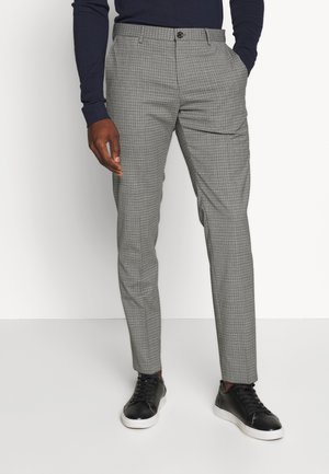 MINI CHECK SLIM FIT PANT - Kalhoty - grey